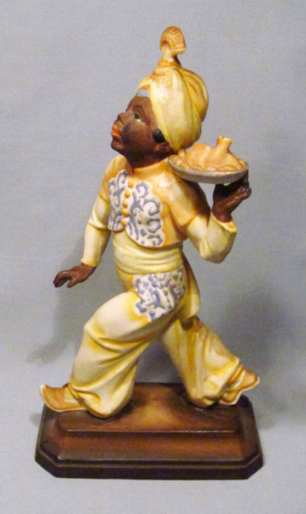 Antique Rosenthal Germany Painted Bisque Blackamoor