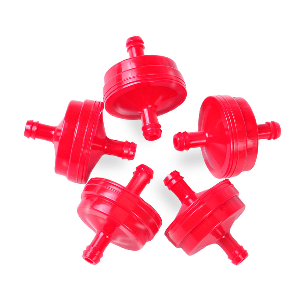 5x 1  4 u0026quot  red plastic inline fuel filter replacement fit