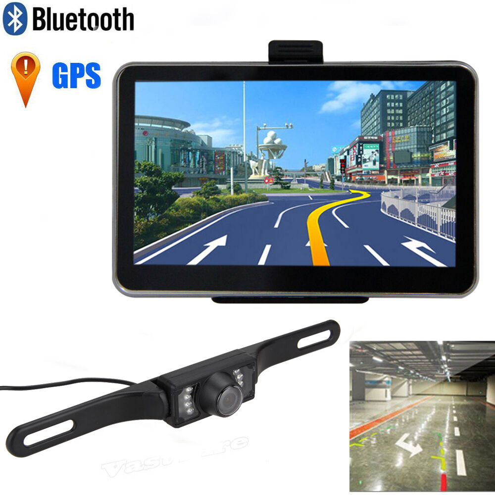 5 car truck auto lcd gps navigation bluetooth wireless rear view backup camera ebay. Black Bedroom Furniture Sets. Home Design Ideas
