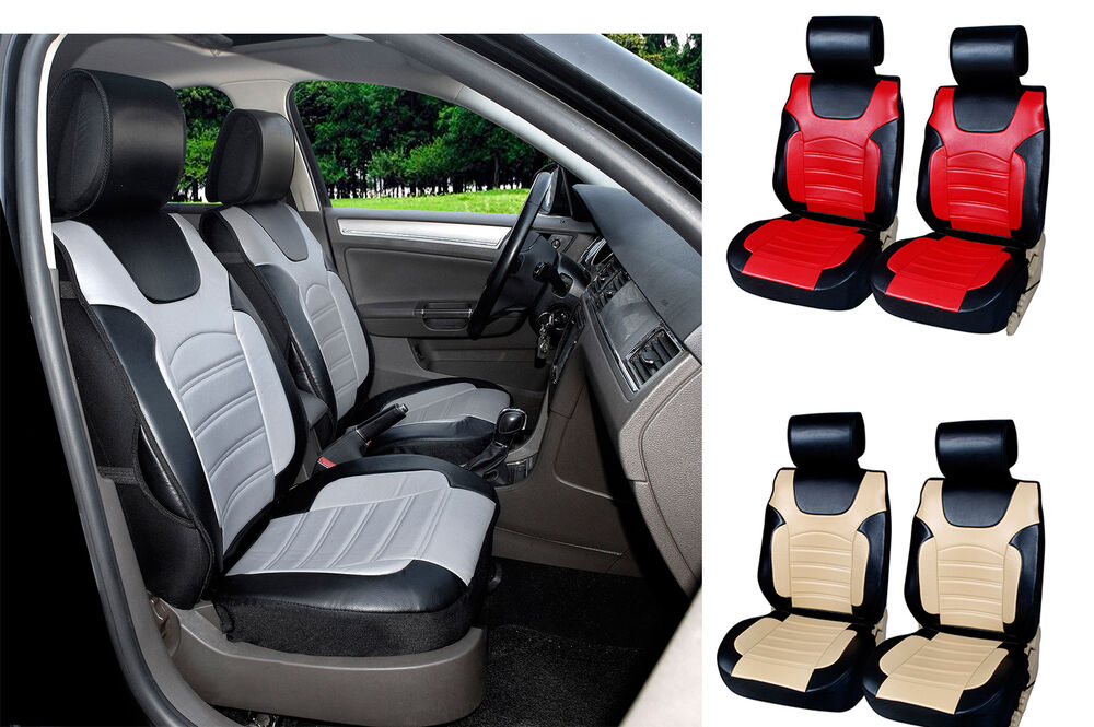 2017 Leather Like Front Car Seat Cover Compatible For