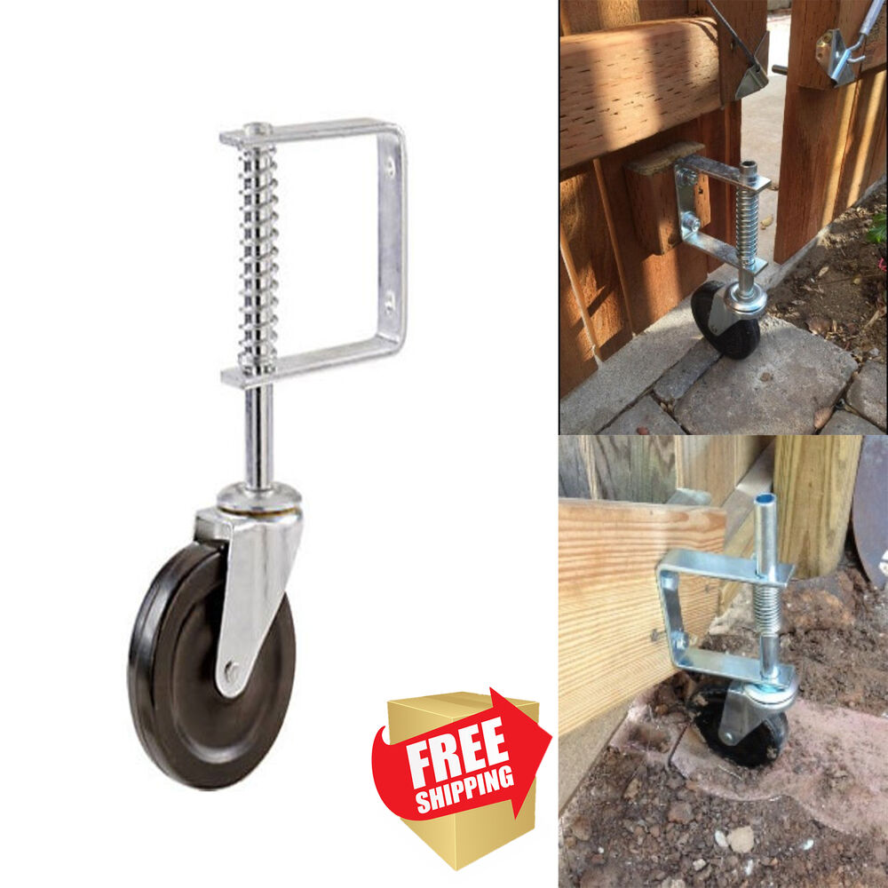 4 Inch Spring Loaded Gate Caster Rubber Wheel 125 Lb Wood