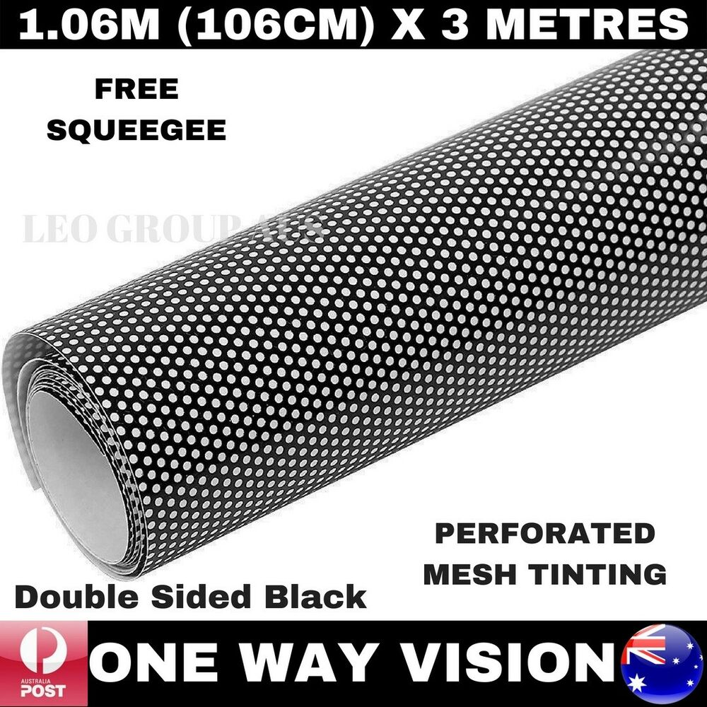 3m x black one way vision vinyl film tint car for 1 x 3 window