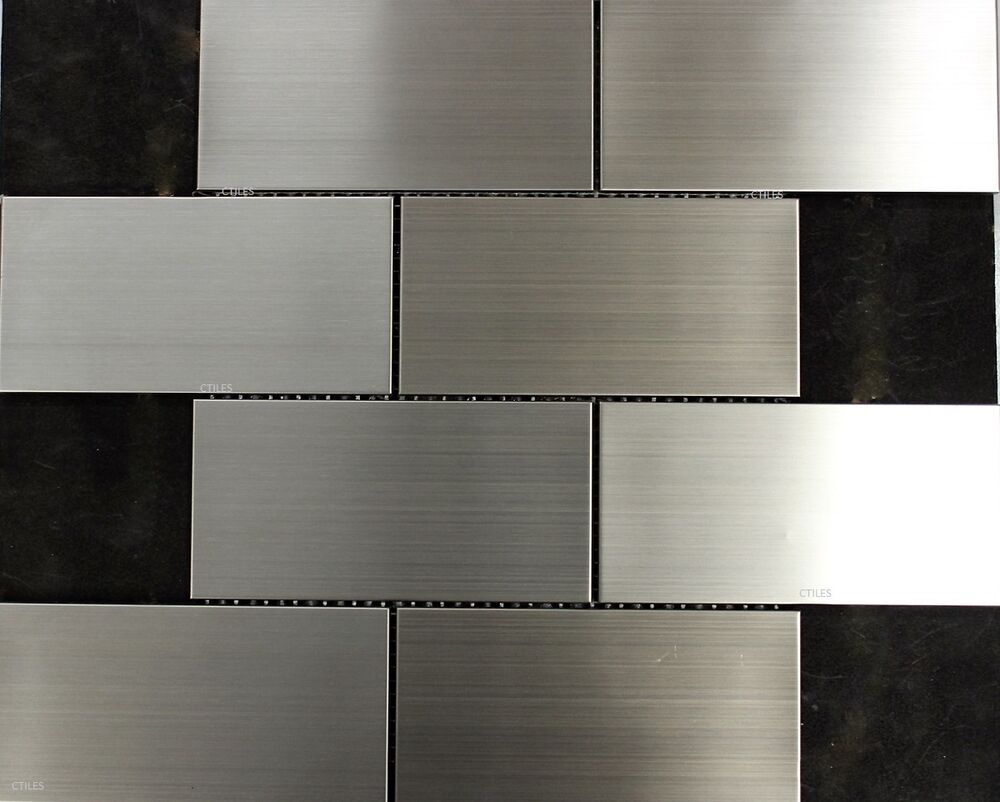 stainless steel kitchen wall tiles quot subway quot stainless steel mosaic tile splash back tiles 8285
