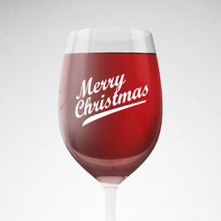 9x Merry Christmas Xmas Party Decoration Decal Stickers Wine Champagne glass
