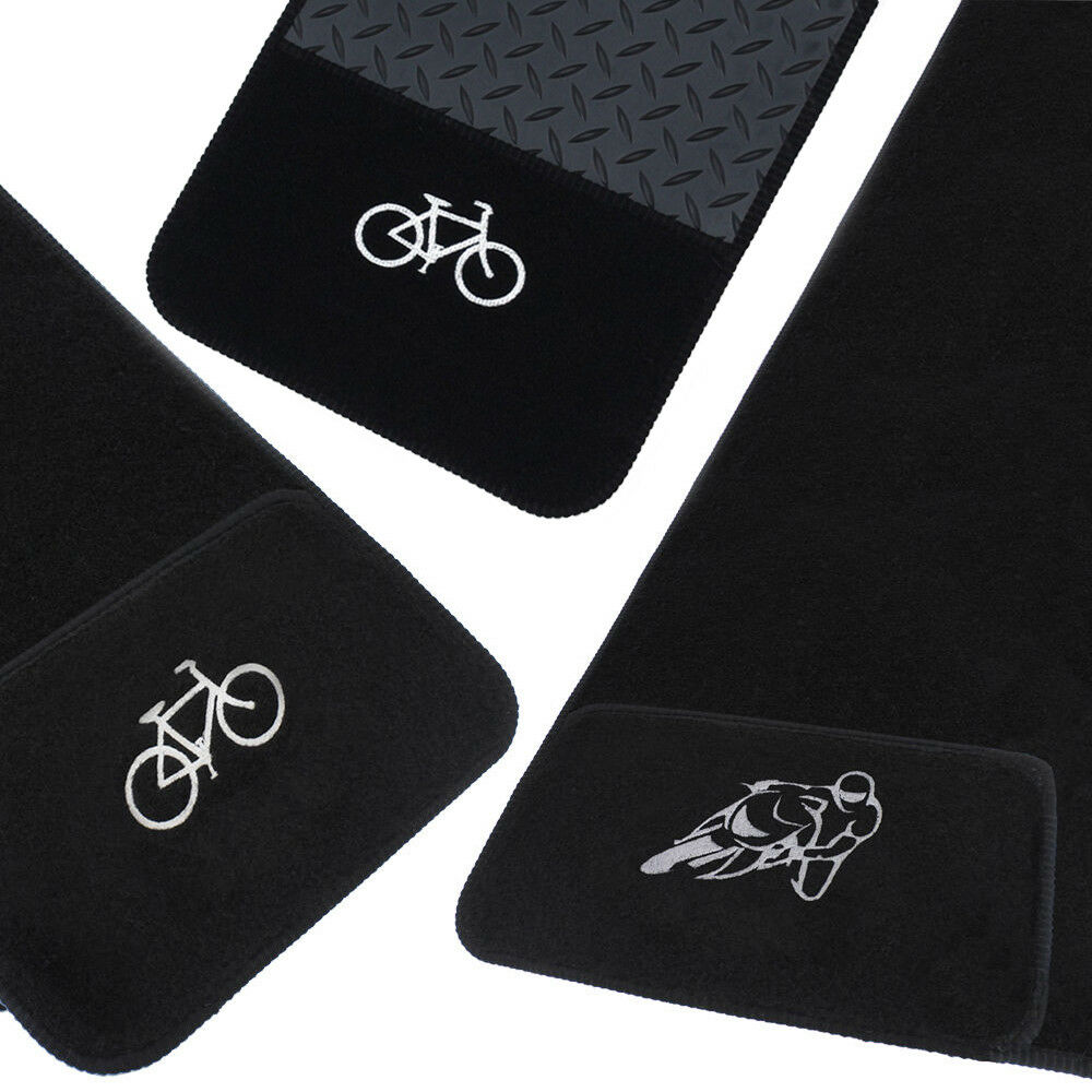 jvl rubber carpet bike motorbike floor protector mat anti. Black Bedroom Furniture Sets. Home Design Ideas