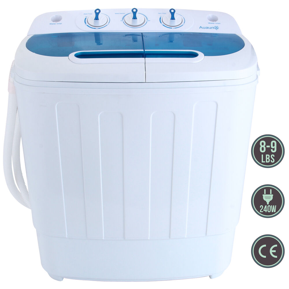 Portable mini 8 9lbs washing machine rv dorm compact for Portable washer and dryer