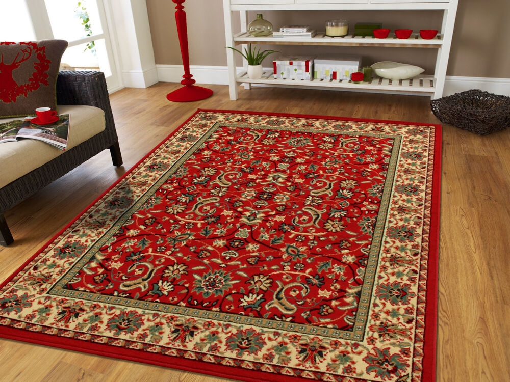 red traditional oriental medallion 8x10 area rug persian carpet 2x3 mat 5x7 rugs ebay. Black Bedroom Furniture Sets. Home Design Ideas
