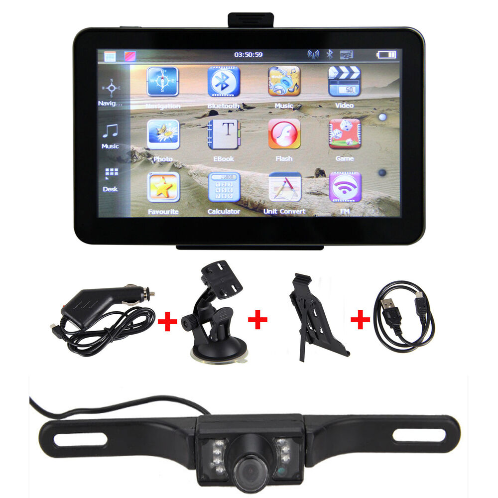 7 Quot Car Gps Navigation Rear View Monitors Mirror Wireless