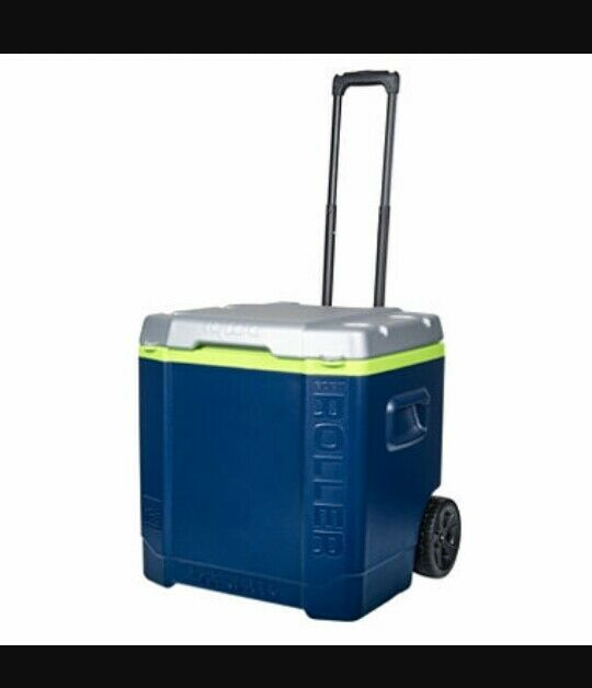 Igloo Transformer 60 Qt Rolling Cooler Ice Chest Telecopic