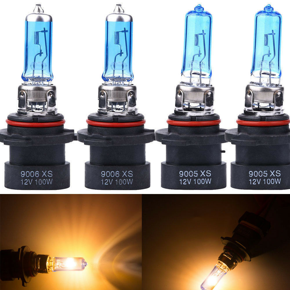Details About 4x 9005XS 9006XS White XENON HID HALOGEN Headlight Bulbs FOR LOW HIGH Beam HS