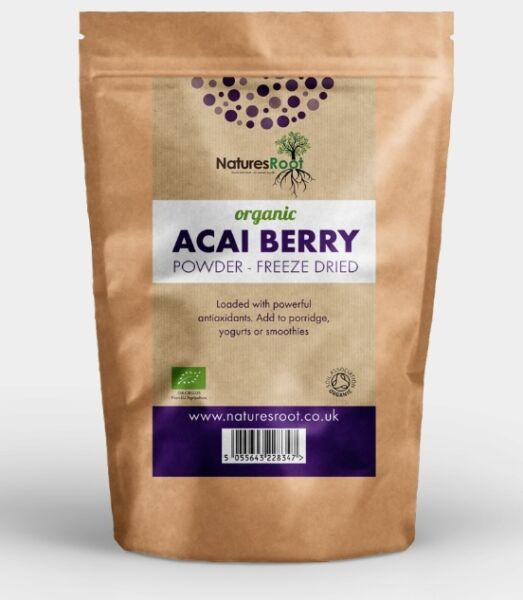 Organic Acai Berry Powder Freeze Dried - Detox, Antioxidant * Superior Quality *