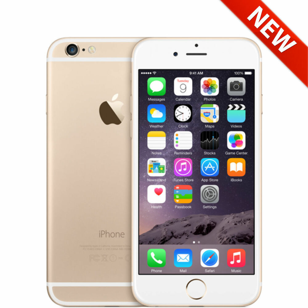 new apple iphone 6 128gb gold unlocked 4g lte smartphone at t tmobile metro ebay. Black Bedroom Furniture Sets. Home Design Ideas