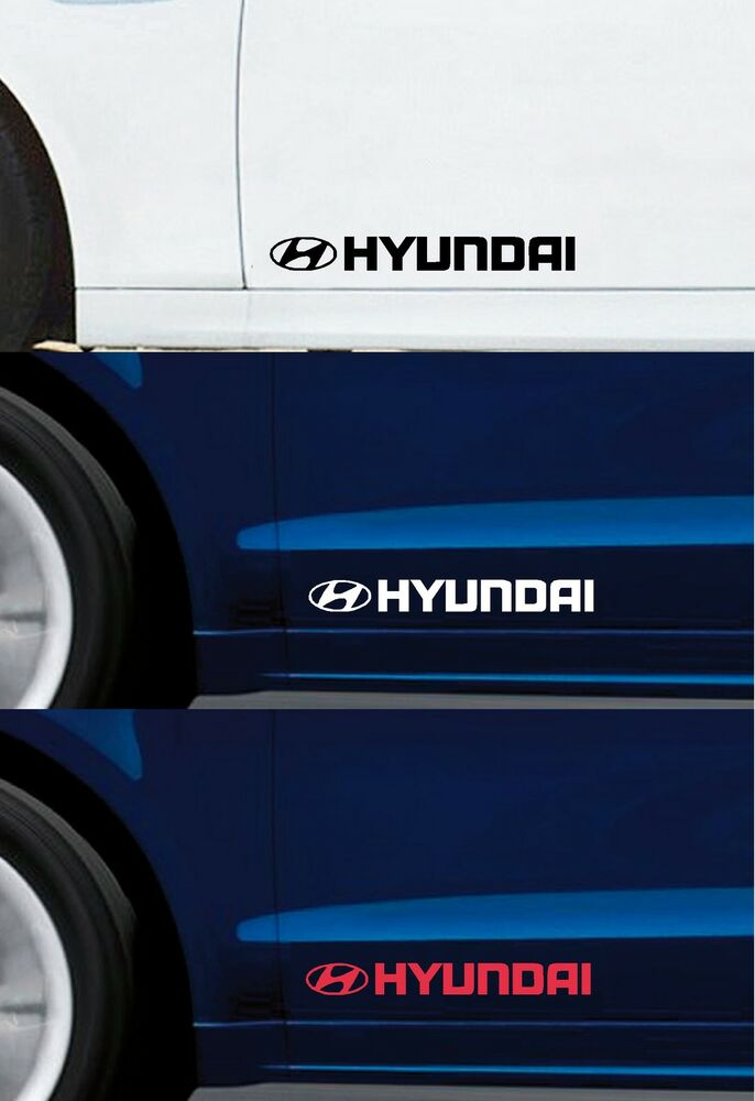 For Hyundai 2 X Doors Car Decal Sticker Adhesive I10