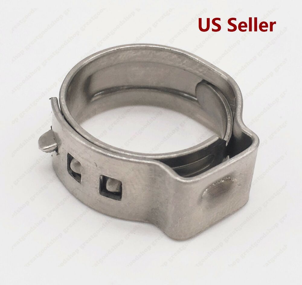 Pcs pex stainless steel ear clamp cinch ring