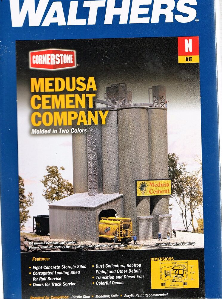 Medusa Cement Company : N scale walthers cornerstone medusa cement