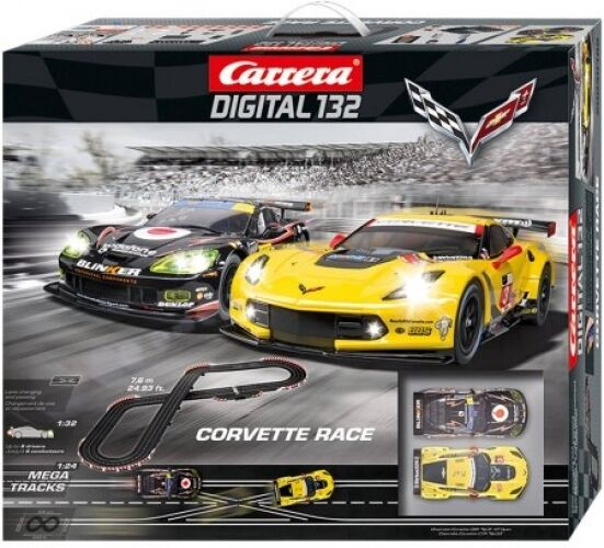 carrera corvette race digital 1 32 scale slot car race set. Black Bedroom Furniture Sets. Home Design Ideas