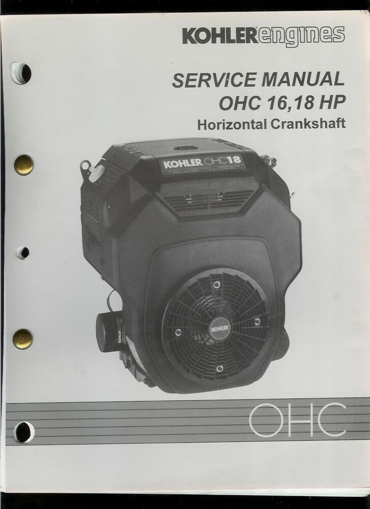 Rare Original Factory Kohler Ohc 16 18 Hp Engine Service