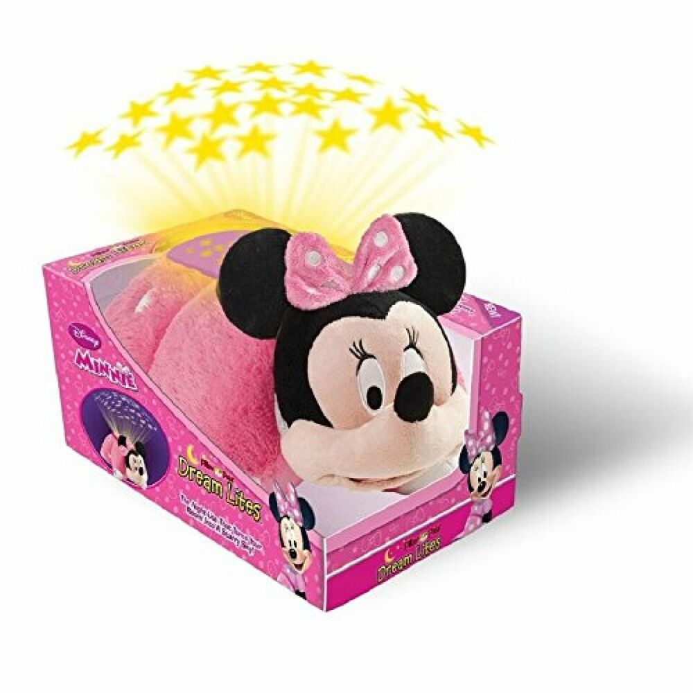disney pillow pets dream lites minnie mouse stuffed animal plush toy quality new ebay. Black Bedroom Furniture Sets. Home Design Ideas