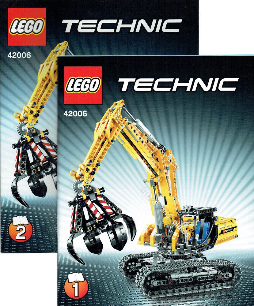lego technic bauanleitung f r 42006 raupenbagger neu only instruction ebay. Black Bedroom Furniture Sets. Home Design Ideas