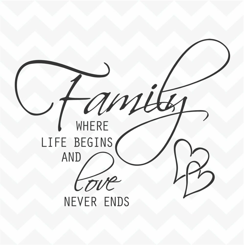 Download Family where life begins & love never ends vinyl wall art ...