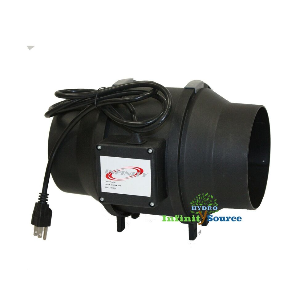 8 Quot Ventilation Mixed Flow In Line Duct Fan Motor 750cfm Ebay