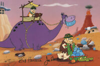 FRED & BARNEY at WORK FLINTSTONES PRINT Hanna Barbera