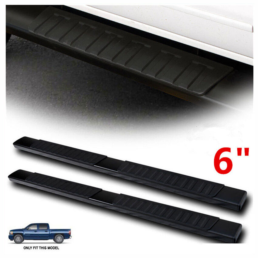 """6 Iboard Running Boards Nerf Bars Fit 06 08 Dodge Ram: For 99-17 Silverado Sierra Double Cab 6"""" Nerf Bars Side"""