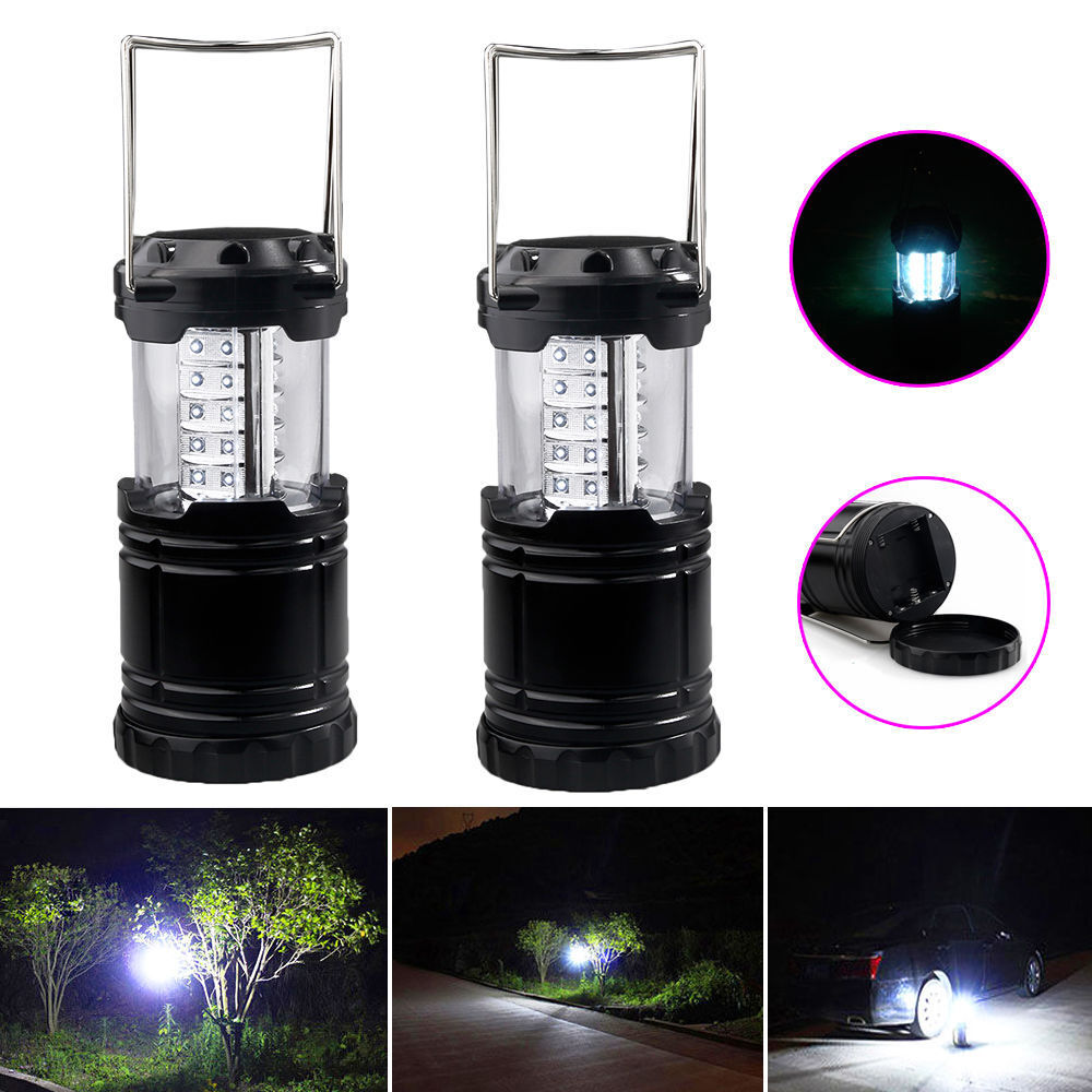 Outdoor Lights Portable: 2 Pack Portable 30 LED Outdoor Camping Lantern Bivouac