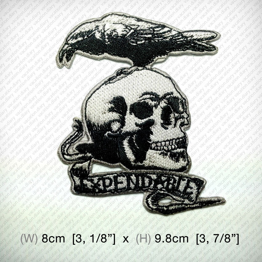 Expendables Tattoo Wallpaper Expendable Tattoo Drawing By: New The Expendables Crow & Skull Embroidered Patch Iron On