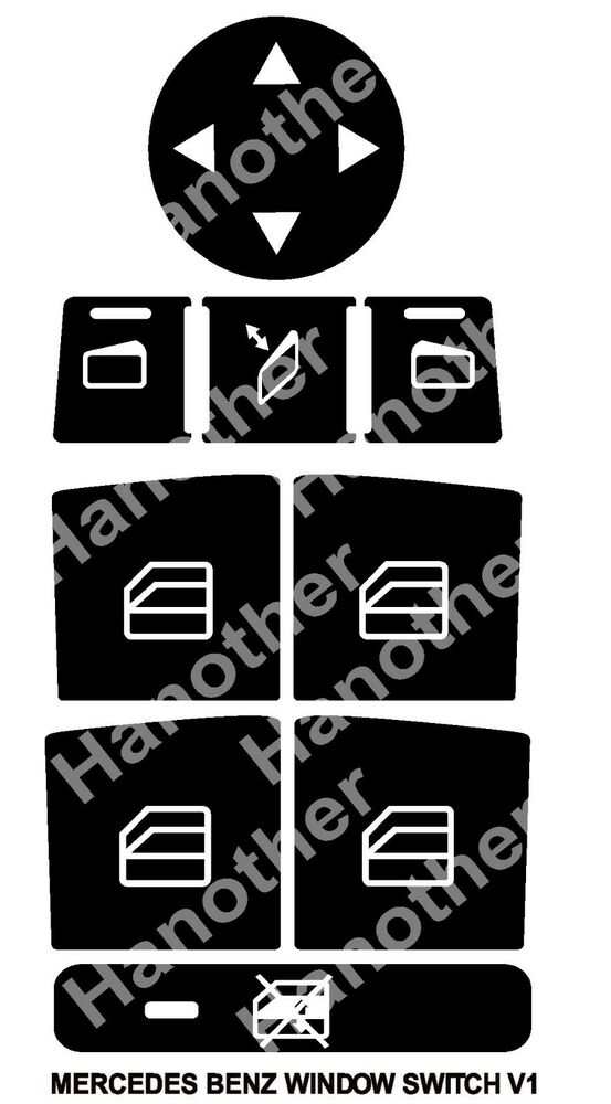 2008 2014 Mercedes Benz Window Button Decals Stickers W204