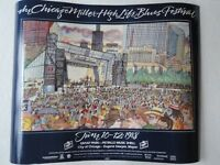 """New Chicago Blues Festival Poster 1988 28"""" Wide x 22"""" Long Very Nice"""