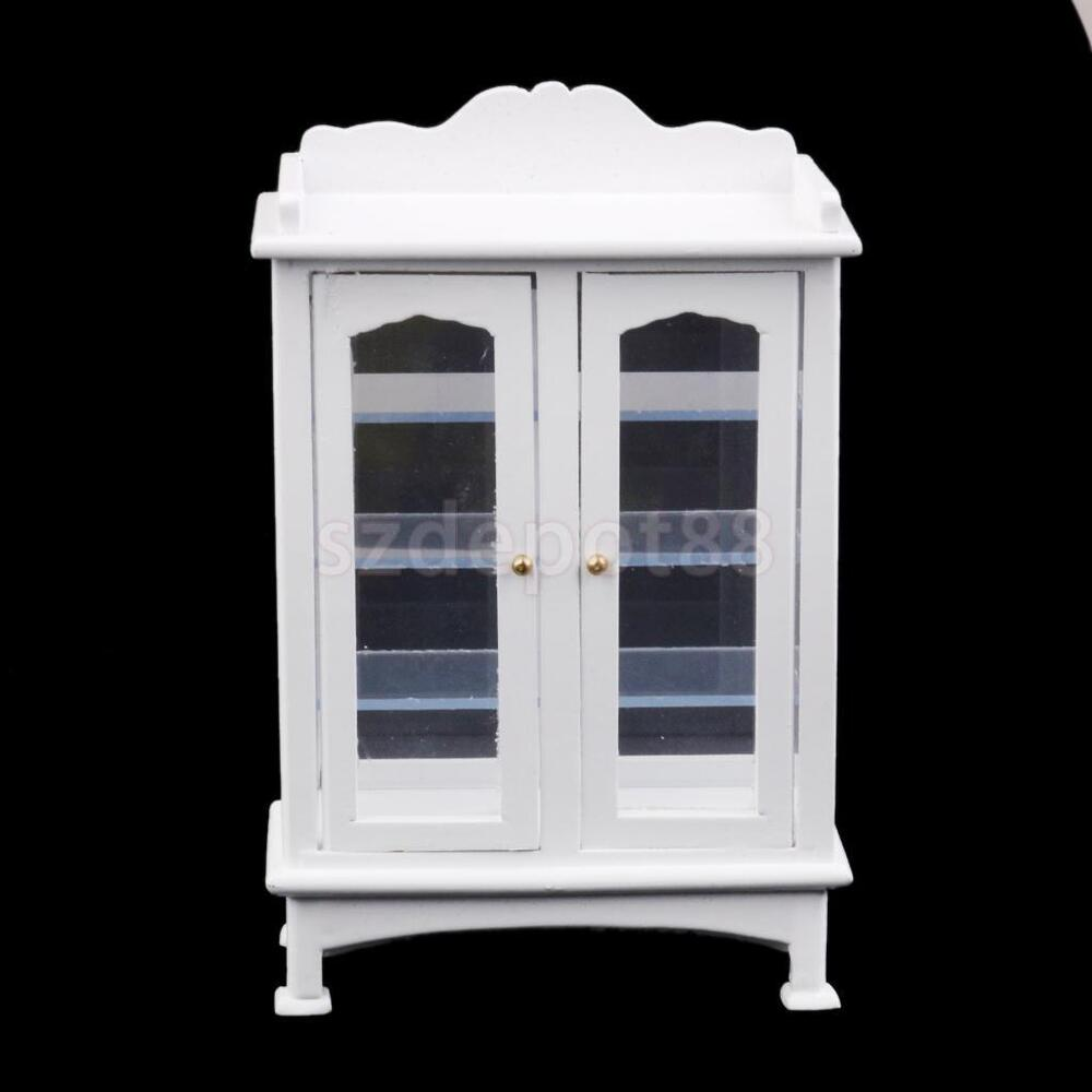 Dolls House Miniature Wooden Display Cabinet Kitchen Living Room Furniture Ebay