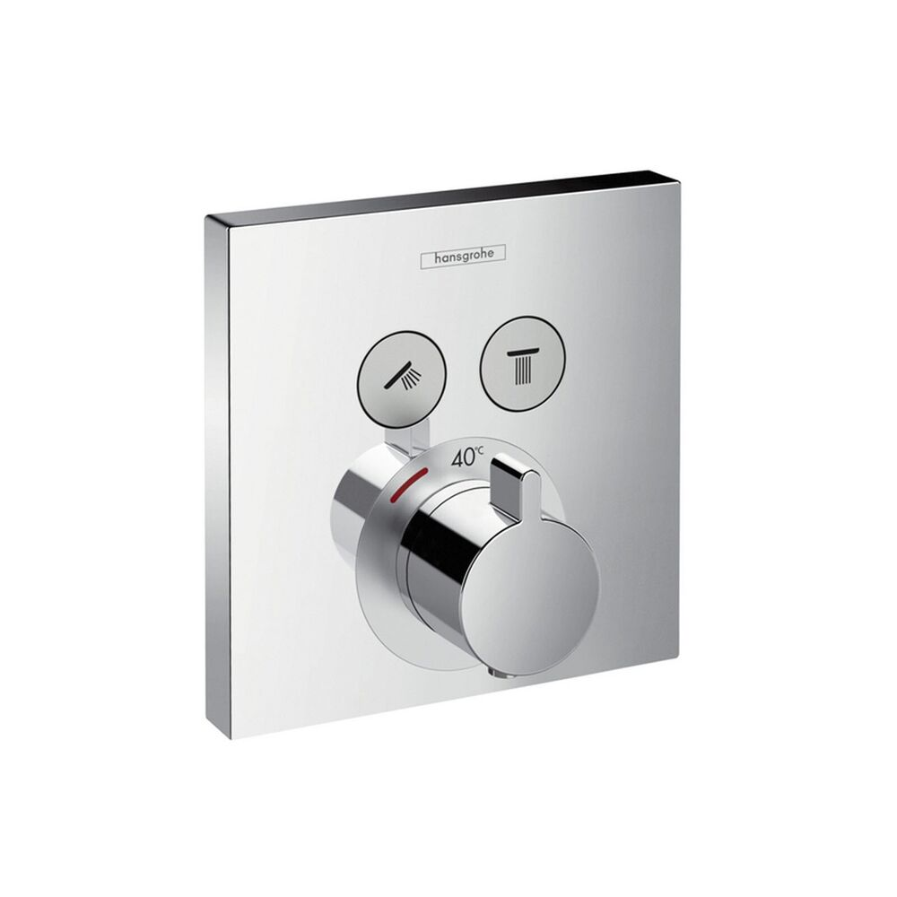 hansgrohe farbset thermostat showerselect f r 2 verbraucher chrom 15763000 ebay. Black Bedroom Furniture Sets. Home Design Ideas
