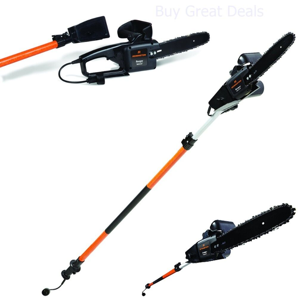 Electric Tree Trimmer Pole Chain Saw Pruner Remington 15
