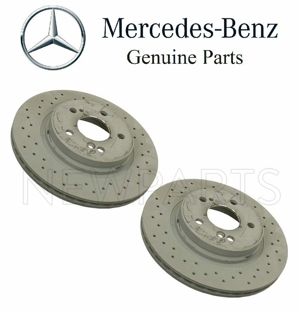 New Mercedes R129 Sl500 Sl600 Set Of Two Rear Brake Disc