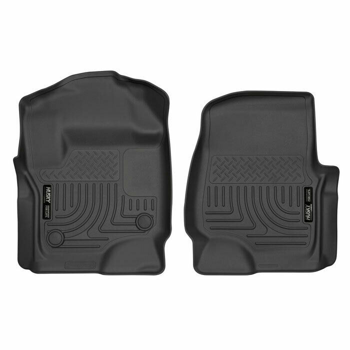 Husky Weatherbeater Front Floor Mats Black For Ford F 250