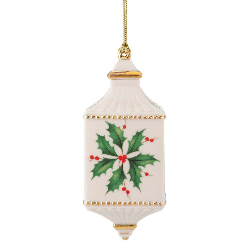 Lenox annual holiday pierced ornament holly berry