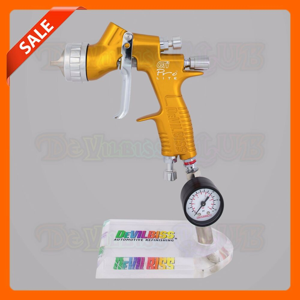 devilbiss gti pro lite spray gun wihtout cup new air adjusting valve hav 501 ebay. Black Bedroom Furniture Sets. Home Design Ideas