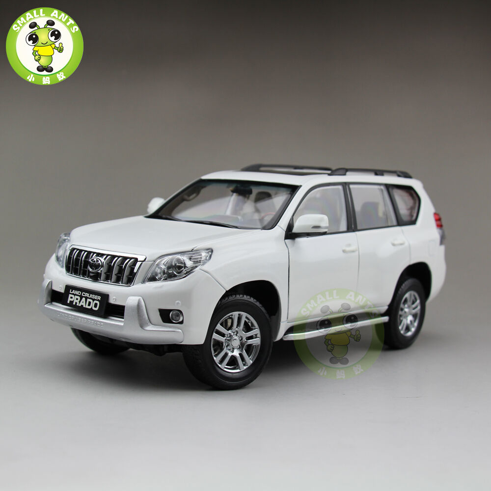 1 18 toyota land cruiser prado diecast suv car model white no decal ebay. Black Bedroom Furniture Sets. Home Design Ideas
