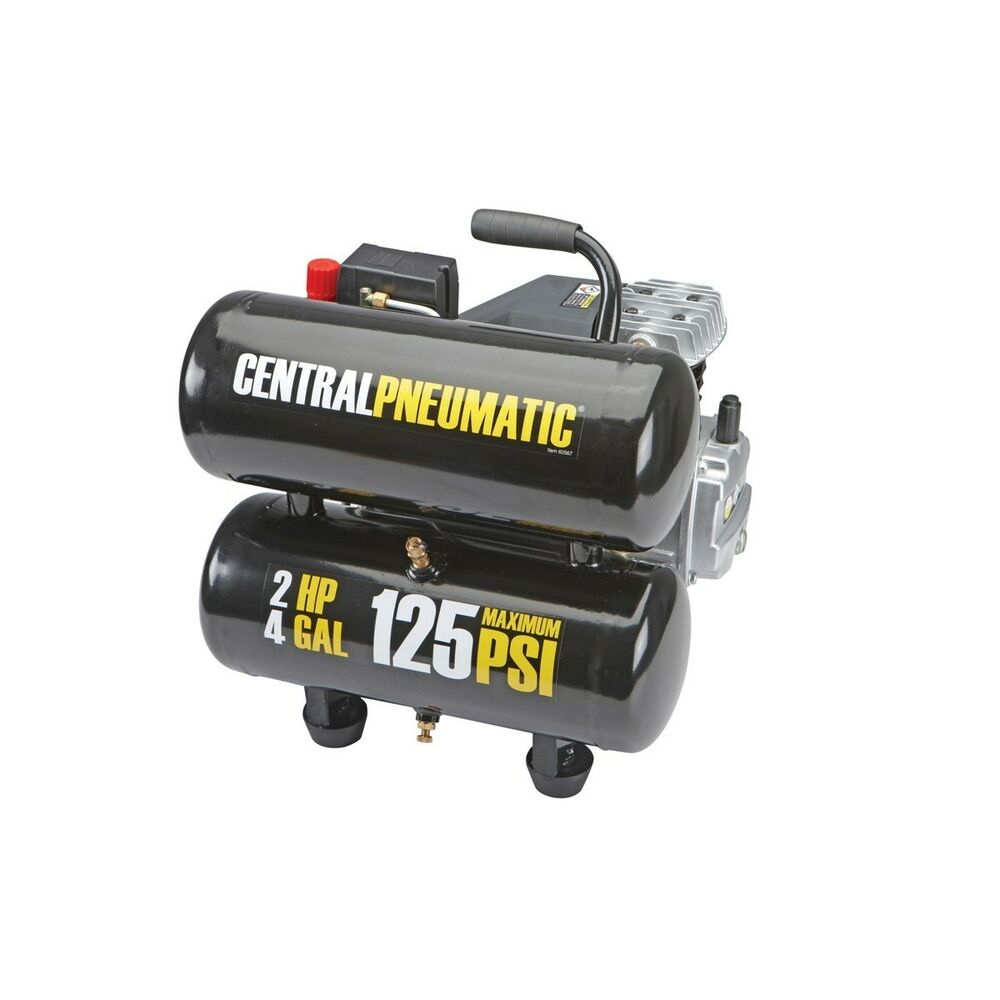 Central Pneumatic 2 Hp 4 Gallon Psi Twin Tank Air