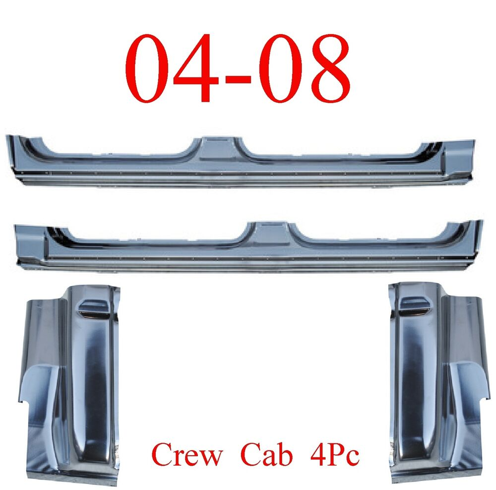 04 08 Crew Cab 4Pc Extended Rocker Panel & Cab Corner