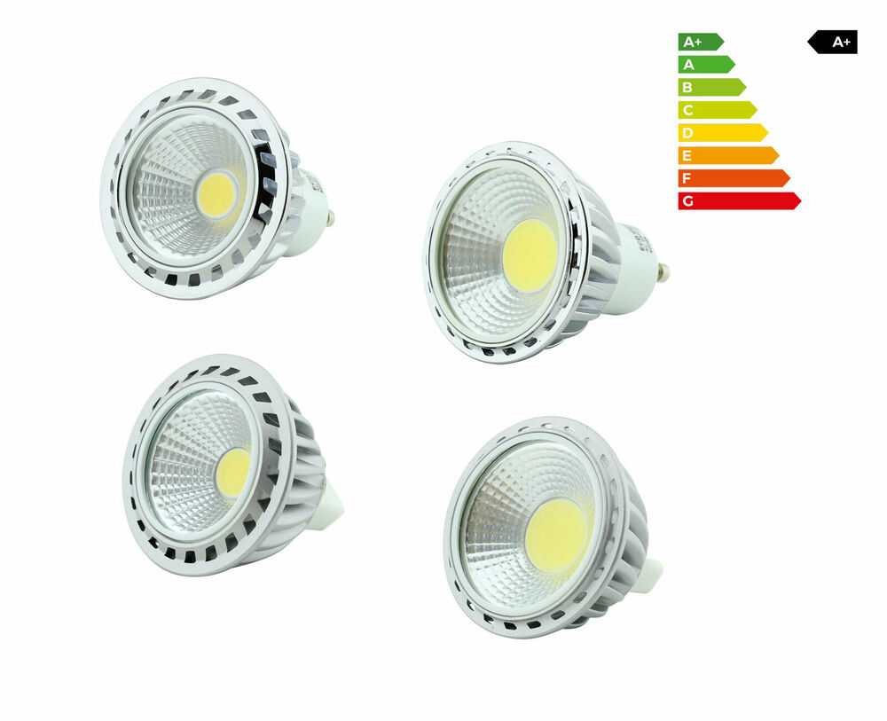4w 6w 9w cob led leuchtmittel sockel mr16 gu10 lampe strahler spot licht lampe ebay. Black Bedroom Furniture Sets. Home Design Ideas