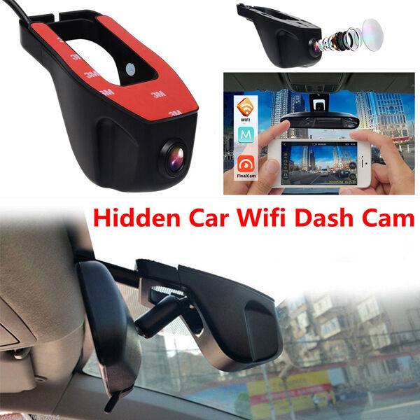 DC12V HD Hidden Wifi DVR Vehicle Camera Video Recorder