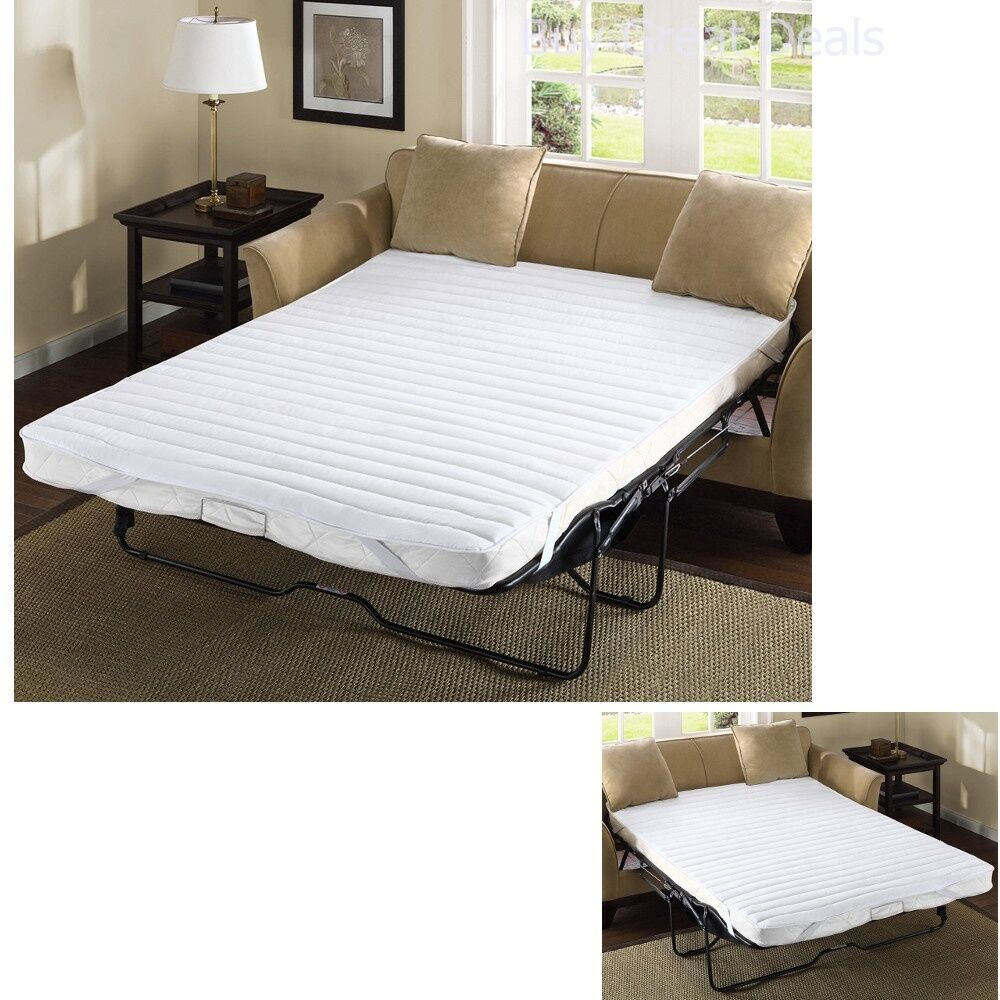 Pull Out Sofa Bed Mattress Pad Bedding Full Size Waterproof Futon Sleep Couch 689790091643 Ebay