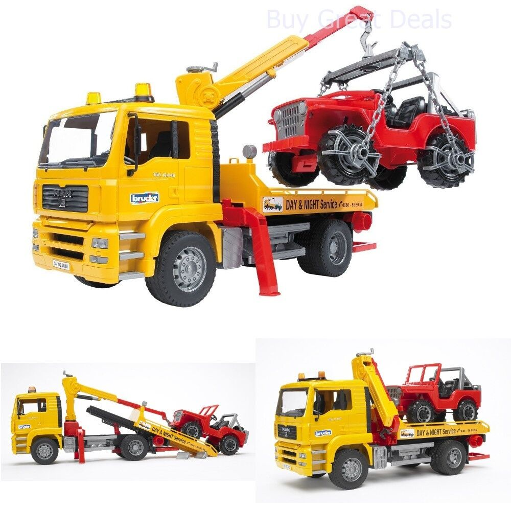 Bruder Construction Toys For Boys : Pickup truck crane rc tow toy vehicles for boys