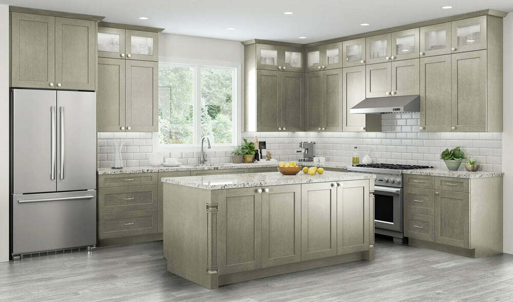 All wood rta 10x10 transitional classic kitchen cabinets for All wood kitchen cabinets