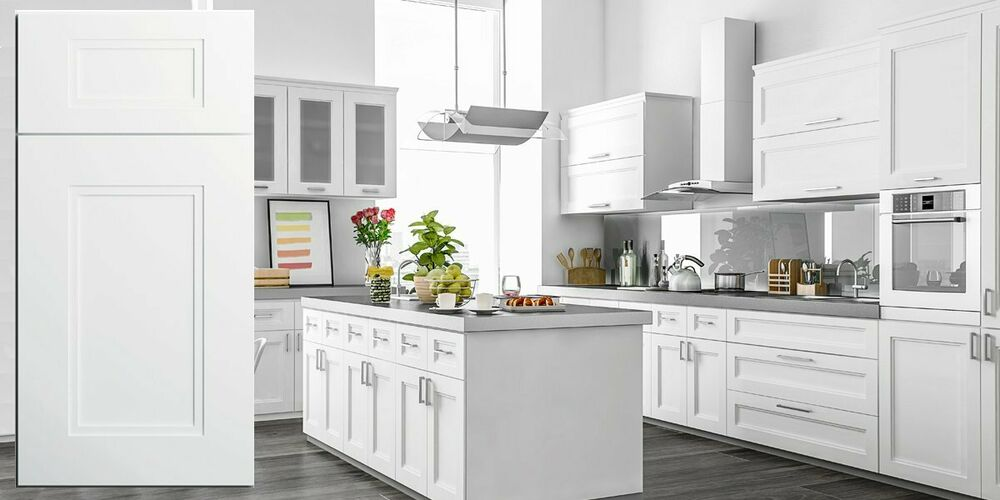 11 X 14 Fashion White Transitional Kitchen Cabinets Door