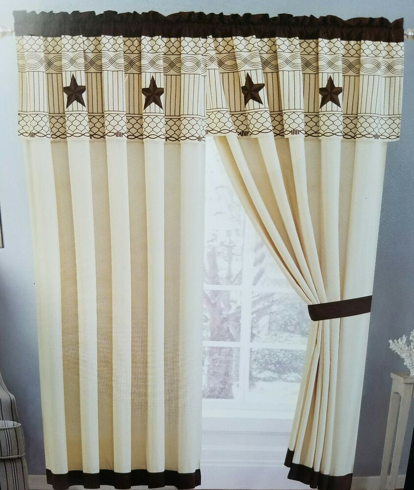Western lone star curtain set 60 x 84 x 18 matches 3 piece for 18 x 60 window