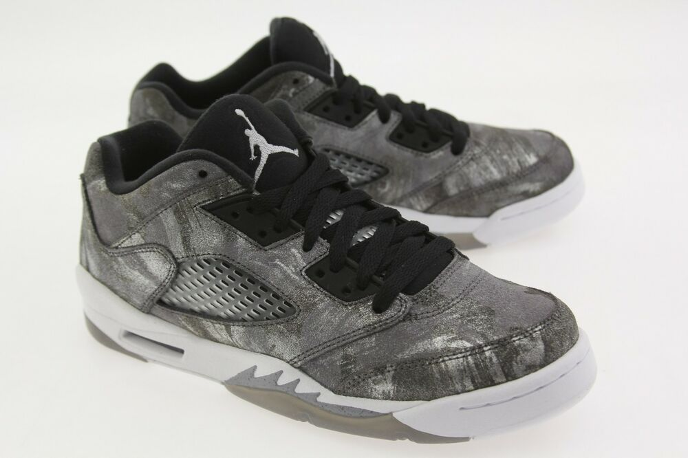 best website ab722 770dc Details about 819951-003 Jordan Big Kids Air Jordan 5 Retro Prem Low GG  cool grey white