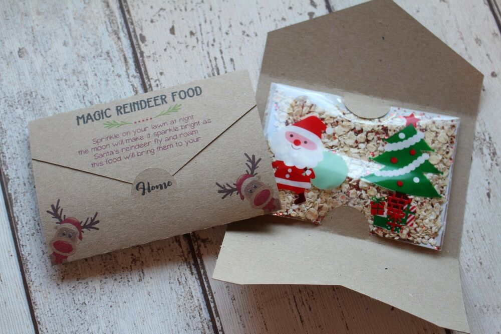 Magic reindeer food card wrap for christmas eve box no